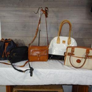 Lot 5 Vintage Dooney & Bourke  Shoulder Bag Tots